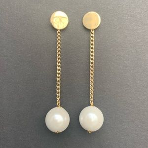Jewelry - Faux pearl Long Drop Earrings